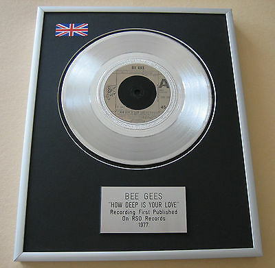 BEE GEES How Deep Is Your Love PLATINUM SINGLE DISC PRESENTATION