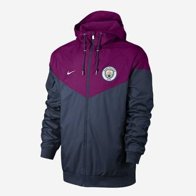 Nike Manchester City Authentic Windrunner Jacket 2017/18 - Maroon - Mens