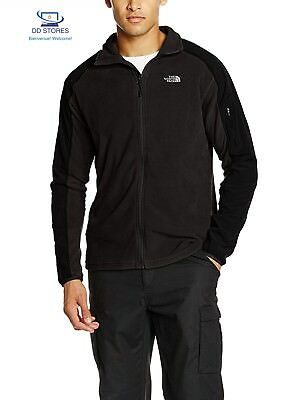 North Face M Glacier Delta Full Zip Giacca in Pile, Nero/Tnf Black, S