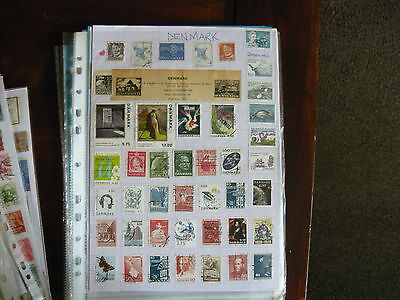 Denmark...3 Plus Pages Of Vintage Stamps...from 1870/1875 Onward