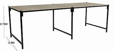 0.9M (3') Wide 2.4M - 3M Long Steel Framed Strong Portable Market Stall Table