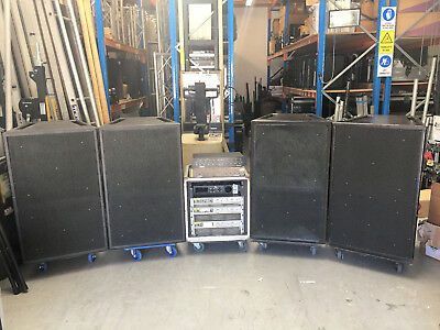 PA SYSTEM - 4 x EAW KF850EF + Crown Macrotech Amps & Cables
