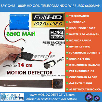 spy cam spycam wireless telecamera nascosta videosorveglianza motion detection