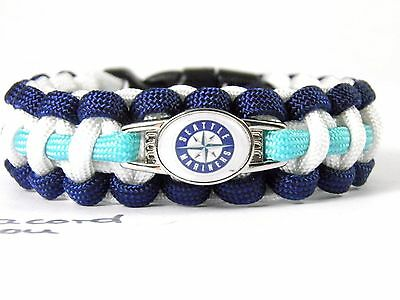 Seattle Mariners Paracord Bracelet with NHL Charm Women, Children's + Men