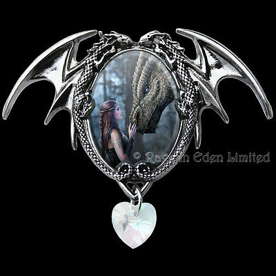 ONCE UPON A TIME Enchanted Cameo Dragon Art Pendant By Anne Stokes (EC3)