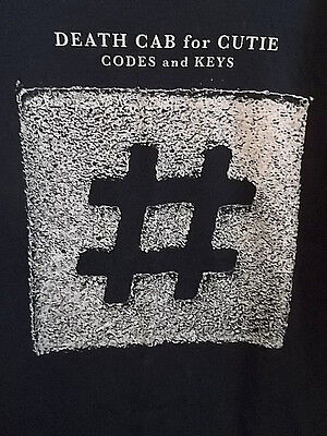 Death Cab For Cutie Codes And Keys Tour Black Adult Small Rock Music Tee T-Shirt