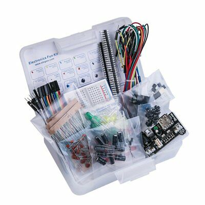 Electronic Fans Kit Starter Breadboard Cable Resistor Led Capacitor Learn DiY