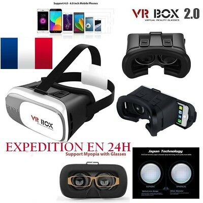 Casque 3D Lunettes VR BOX 2.0 Virtual Reality pour Iphone Samsung Huawei LG Sony