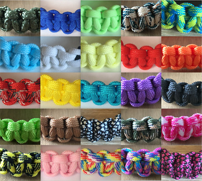 Handmade Custom Order Paracord Bracelet Outdoor Camping Survival All Colours NEW