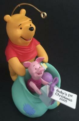 2005 Baby's First Christmas Hallmark Ornament Winnie the Pooh and Piglet