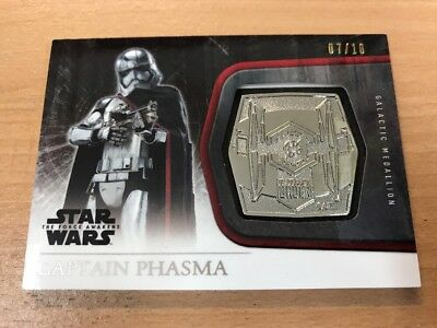 Star Wars The Force Awakens Series 1 Captain Phasma 07/10 Platinum Medallion
