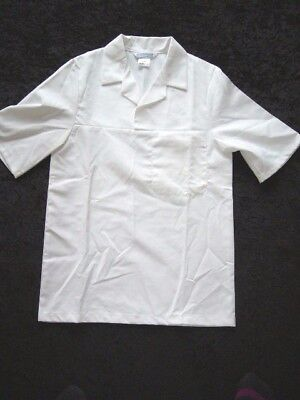 White Shirt Protective Top 84cms/33ins/Euro42 Laboratory Coat Lab Garment Apron