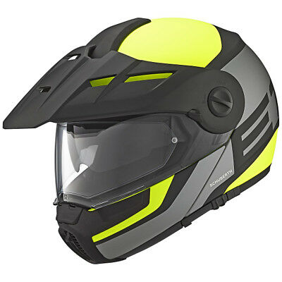 Schuberth E1 Guardian Yellow Flip Front Adventure Style Motorcycle Helmet