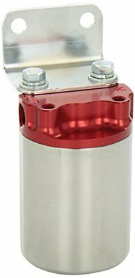 Aeromotive 12318 100 Micron Red Polished Canister Fuel Filter