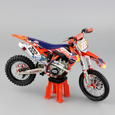 1:12 KTM SX-F 450 No.222 AMA Supercross redbull Motorcycle Model Motocross toys
