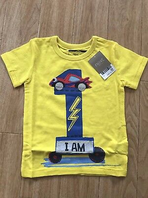 Next I Am 1 Yellow Top - Baby Boys Aged Size 1 Years - 18 Months
