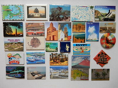 One Selected Souvenir Fridge Magnet from Around the World