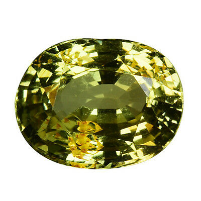 2.165Cts Excellent luster green natural chrysoberyl oval video in description
