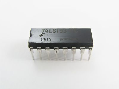 RCA SK74LS193 - Binary Sync./Clear Sync. Up/Down Counters - 16-Pin DIP IC, NOS