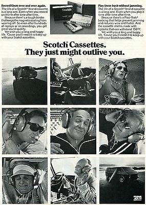 1976 Scotch Cassette Tapes They Just Might Outlive You Print Ad