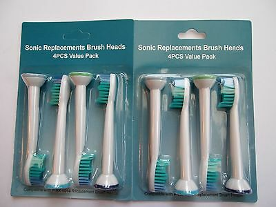 8 Sonicare Philips Toothbrush Heads Electric Diamond Clean HX6014