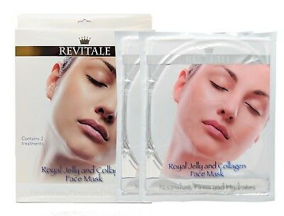 Revitale Face Masks - Royal Jelly and Collagen - Nourishes, Firms & Hydrates