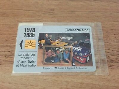 Collectable Phonecards. Telecarte Phonecard Renault 1978/85