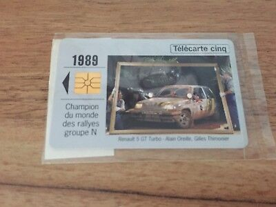 Collectable Phonecards. Telecarte Phonecard Renault 1989