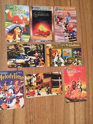 Collectable Phonecards. 8 Disney Phonecards