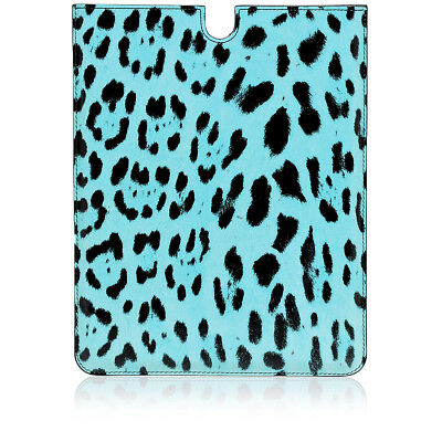 DOLCE&GABBANA New Unisex Leopard Printed Leather Tablet Case Made in Italy NWT