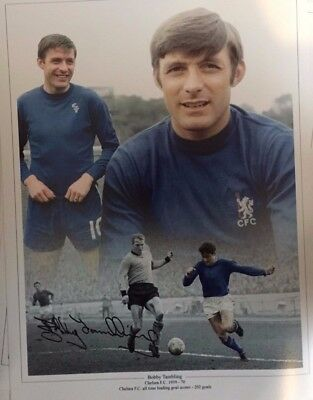 Signed Bobby Tambling Chelsea Montage