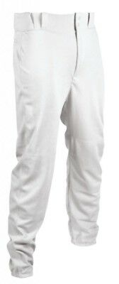 (Small, White) - TAG Youth Baseball Pant with Belt Loops (Elastic Bottoms)