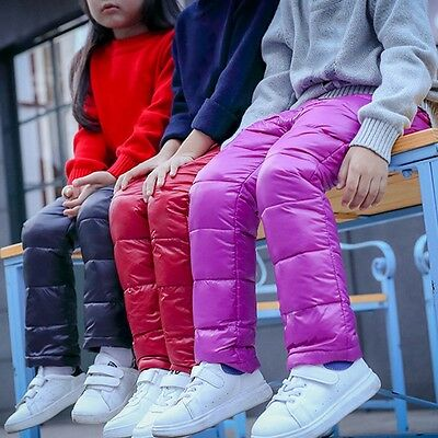Kids Winter Pants Boys Girls Outdoor Warm Thick Trousers Child Casual Pants New