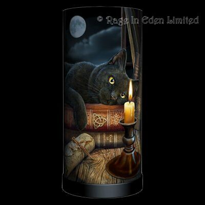 *THE WITCHING HOUR* Black Cat Art Lamp By Lisa Parker (Bulb Not Included) 27cm