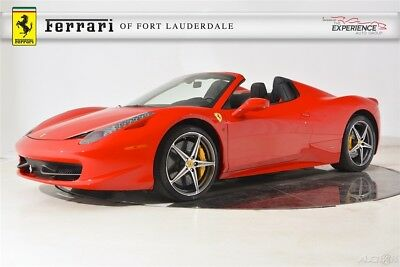 2014 Ferrari 458 Spider Carbon Fiber LED iPod Shields Camera 20 Forged Diamond Satellite Piping Stitch