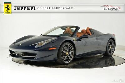 2013 Ferrari 458 Spider AFS Alcantara Extended Leather Lifter iPod Shields Navigation Camera Satellite