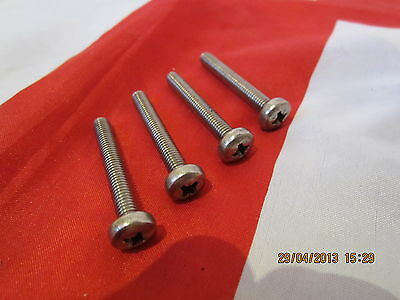 Vespa  T5 Classic  Stainless Steel Handle Bar Top Screws ( 4 Of )