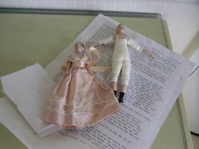 Vintage Bisque Dollhouse Woman & Man Dolls - Swallowhill Canada
