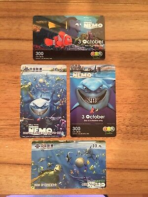 Collectable Phonecards. 4 Finding Nemo Phonecards