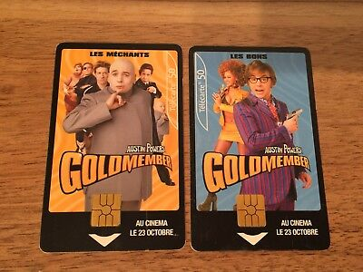 Collectable Phonecards. 2 Goldmember Phonecards