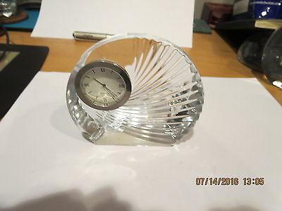 Quartz Desk Bohema Crystall Made In Czech Repablic Collection Clock
