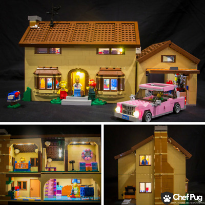 LED Light Kit ONLY For Lego 71006 The Simpsons House City Creator Lighting Brick