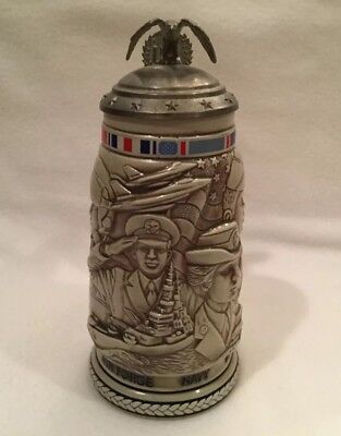 Vintage 1990 Armed Forces Beer Stein Exclusive Avon product