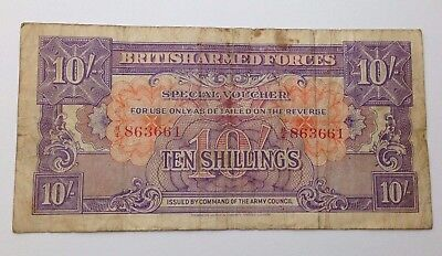 10 Shillings - British Armed Forces - Special Voucher - Banknote Paper Money