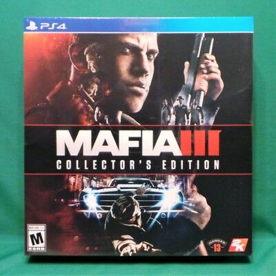 Mafia III: Collector's Edition (PlayStation 4, PS4 2016) Factory Sealed NTSC US