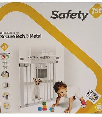 Safety 1st Simply Close Pressure Fit Baby Stair Gate - fits openings 73cm-80cm