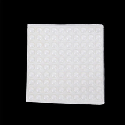 100Pcs Self Adhesive Silicone Feet Bumpers Door Cupboard Drawer Cabinet FY