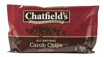 Chatfields All Natural Carob Morsels 12 Oz - 12 Pack