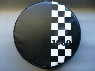 Black Check Stripe (Any Year) Scooter Wheel Cover