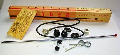 12 pieces NOS Snyder red ball saturn 40's 50's Antenna Universal side mount USA